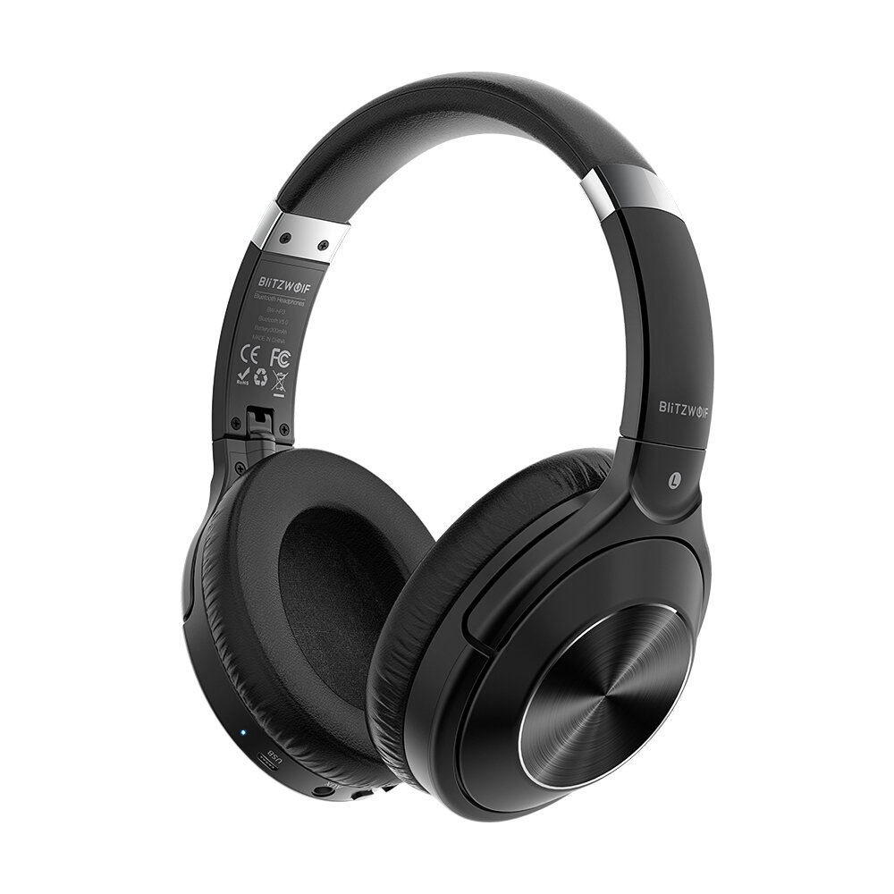 BlitzWolf® BW-HP3 Wireless bluetooth Headphone 40mm Driver Graphene Diaphragm HiFi Stereo AAC Over-Ear Noise Canceling Mic Gaming Headset