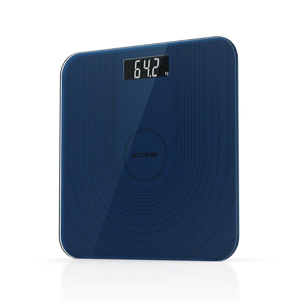 BlitzWolf® BW-SC2 Floor Body Smart Electric Digital Weight Health Balance Scale Toughened Glass LCD Display 180kg/50g COD