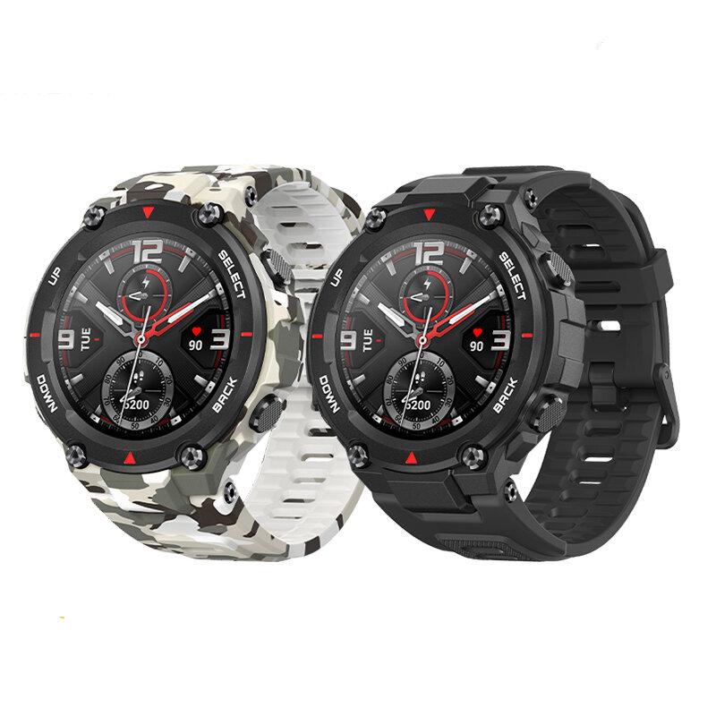 [bluetooth 5.0]Amazfit T-Rex AMOLED GPS + GLONASS Outdoor Watch 14 Sport Modes Track Weather Forecast Smart Watch Global Version