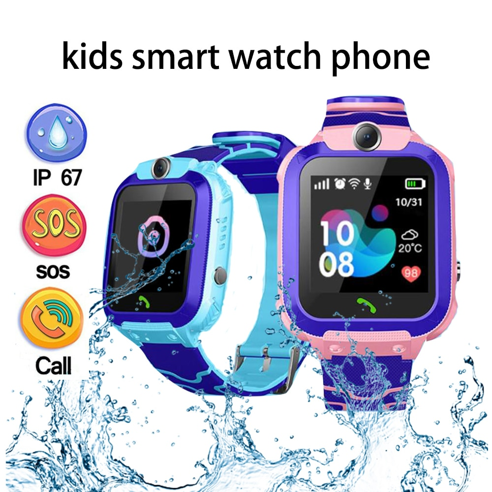 Children's Smart Watch Kids Phone Watch Smartwatch For Boys Girls With Sim Card Photo Waterproof IP67 Gift For IOS Android|Smart Watches| - AliExpress