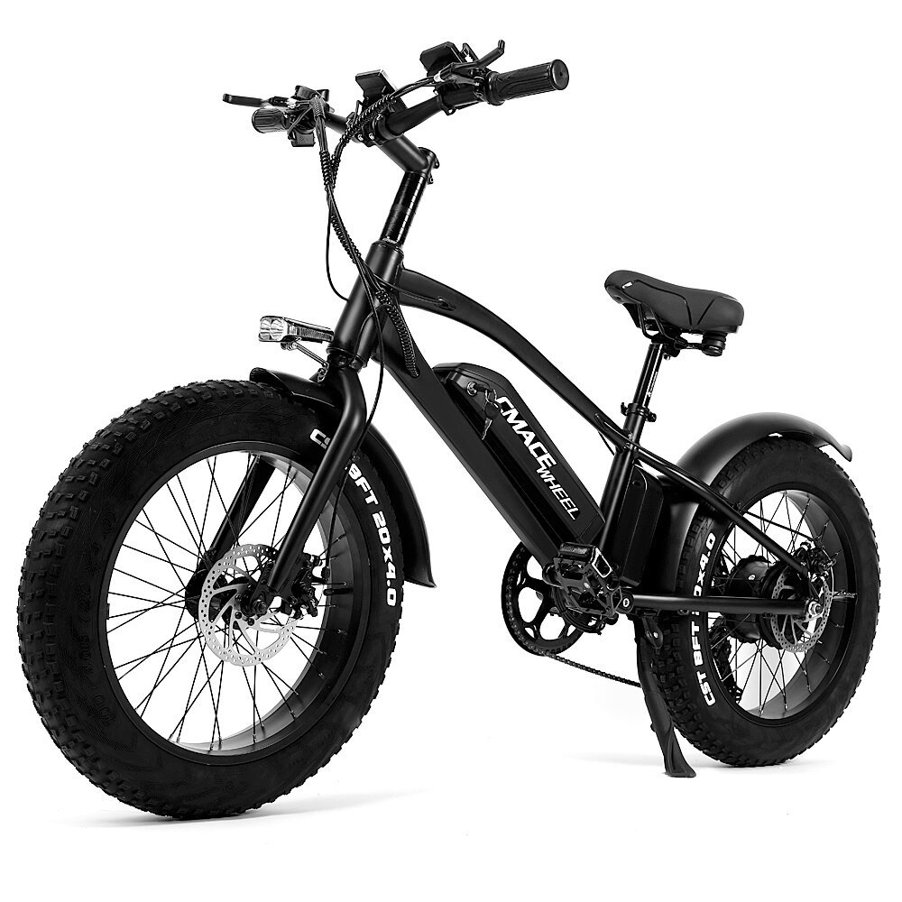 CMACEWHEEL T20 Moped Electric Bicycle Double Battery 10Ah 750W 20*4in Fat Tire Electric Bike Max Speed 45km/h Mileage 120km E-Bike