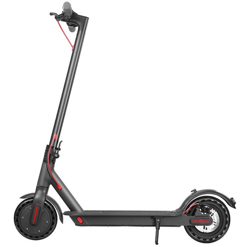 D8 Pro Electric Folding Scooter 7.8Ah Battery BMS 350W Motor Max Speed 25km/h Rear Light Aluminum Body 8.5 Inch Solid Honeycomb Tire - Black