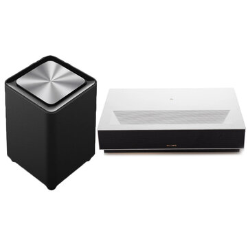 Fengmi 4K Cinema Laser Projector 2500 ANSI Lumens 150 inch ALPD 4K 3D BT 4.0 MIUI TV Xiaomi Projector With Fengmi WEMAX S1 Subwoofer Speaker