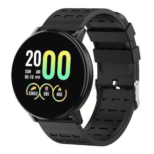 Gocomma 119Plus Sports Pedometer Heart Rate Smart Watch Dual Color Strap Smartwatch