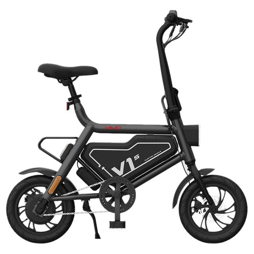 HIMO V1S 12 inch Portable Folding Electric Assist Bicycle 250W Motor 7.8Ah Li-ion Battery Ergonomic Design Multi-mode Riding Aluminum alloy Frame LED Light - Gray