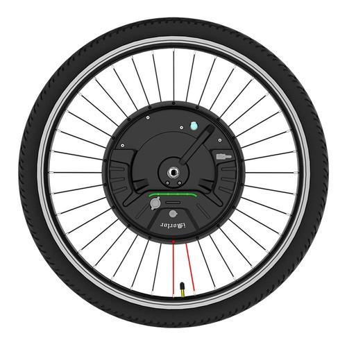 iMortor3 Permanent Magnet DC Motor Bicycle Wheel 26 Inch With App Control Adjustable Speed Mode Disk Break - EU Plug