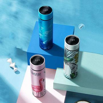 KCASA 450ML Smart Temperature Display Thermos Vacuum Bottle Portable Stianless Steel Insulation Water Bottle Vacuum Flasks