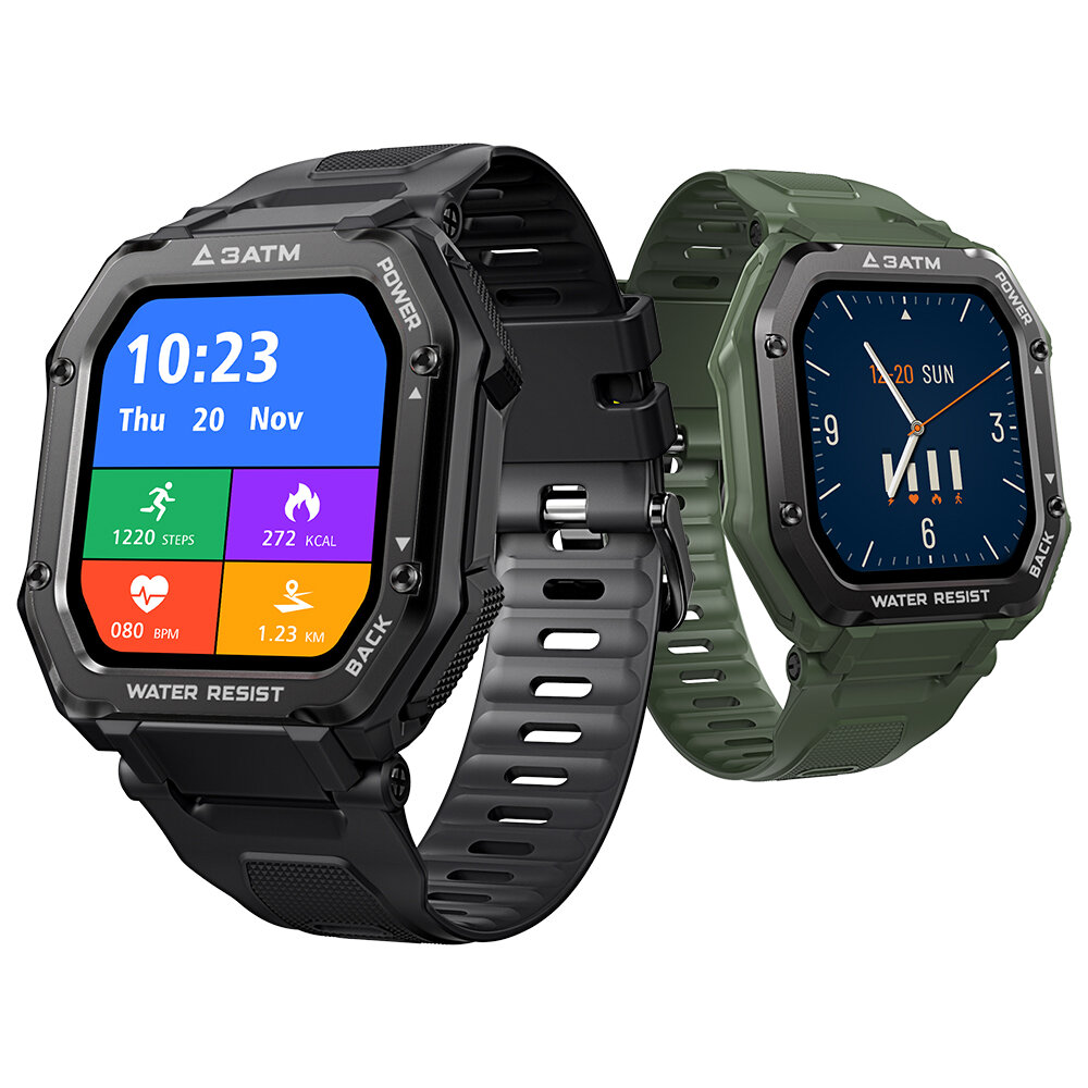 Kospet Rock 1.69 Inch Large Screen Heart Rate Blood Pressure SpO2 Monitor 20 Sport Modes bluetooth 5.0 Three-proof Outdoor Smart Watch