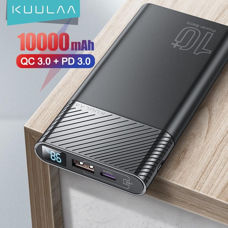 KUULAA Power Bank 10000mAh QC PD 3.0 PoverBank Fast Charging PowerBank 10000 mAh USB External Battery Charger For Xiaomi Mi 10|Power Bank| - AliExpress