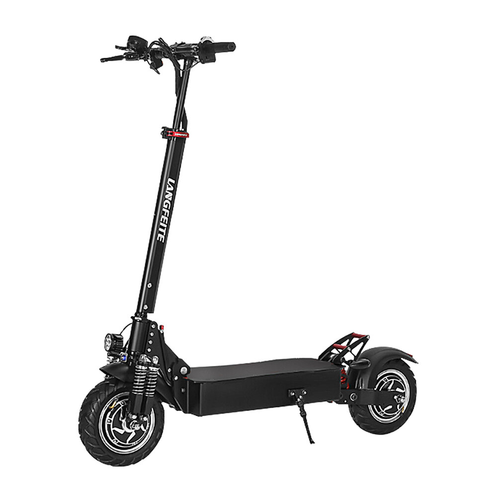 LANGFEITE L9 26Ah 52V 1000W Dual Motor Folding Electric Scooter Vehicle 10in 60km/h Top Speed 70km Mileage Double Brake System Max Load 150kg EU Plug COD