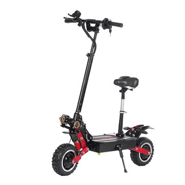 LAOTIE ES18P 60V 21700 Battery 33.6Ah 2800W*2 Dual Motor Foldable Electric Scooter With Saddle 85Km/h Top Speed 120km Mileage 200kg Bearing EU Plug