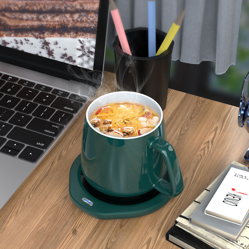 Loskii A203 55℃ Constant Temperature Cup Heating Mat 18W Two Gear Electric Tea Warmer 8H Automatic Power Off Protection for Home Office Travel COD