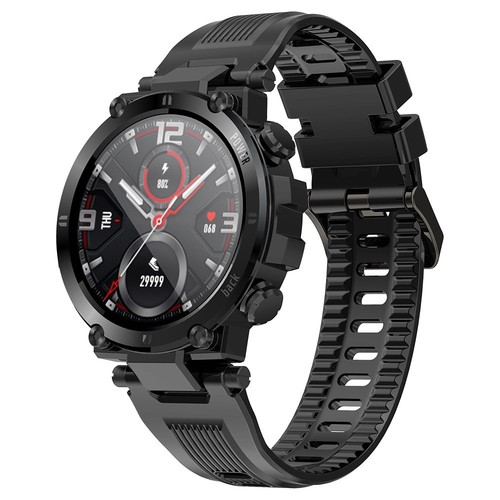 """Makibes D13 Smartwatch 1.3"""" TFT HD Full Round Screen Heart Rate Oximetry Monitoring Sleep Monitor IP68 Sports Waterproof APP Supports Multiple Languages - Black"""