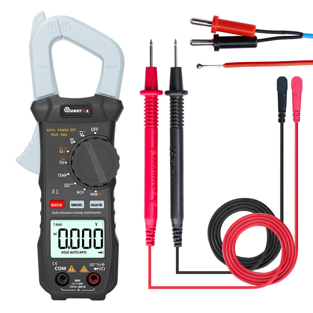 MUSTOOL X1 Pocket 6000 Counts True RMS Clamp Meter AC/DC Voltage&Current Digital Multimeter Automatic Digital Meter With Square Wave Output Ω/V/A/Diode/Frequency/Continuity Test COD