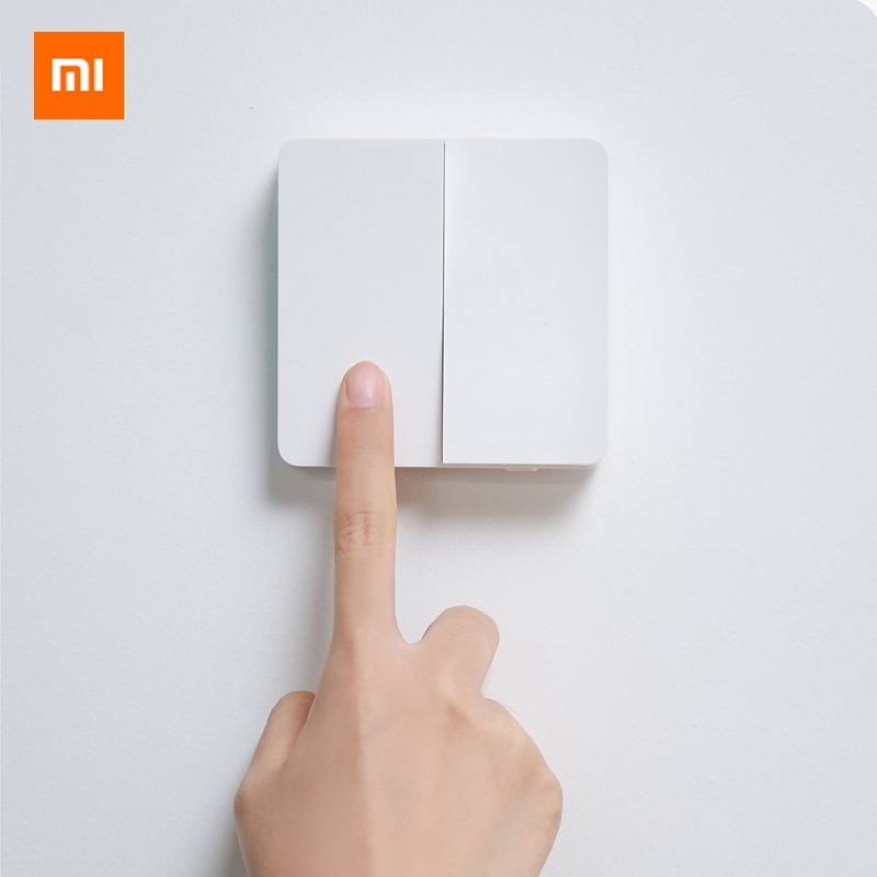 Original Xiaomi Wall Switch Mijia Wall Switch Compatible with traditional and smart lights Single and dual control Wall Switch|Smart Remote Control| - AliExpress