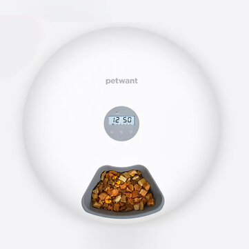 Paiwang Automatic Pet Feeder 6 Meals 6 Grids Timing Feeder Cat Dog Electric Dry Food Dispenser Dish Feed 24 Hours Timer Pet Supplies
