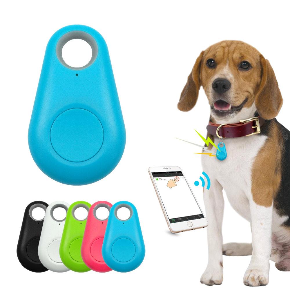 Ranres Pet Smart GPS Tracker Mini Anti-Lost Waterproof Bluetooth Locator Tracer for Pet Dog Cat Kids Car Wallet Key Collar Accessories