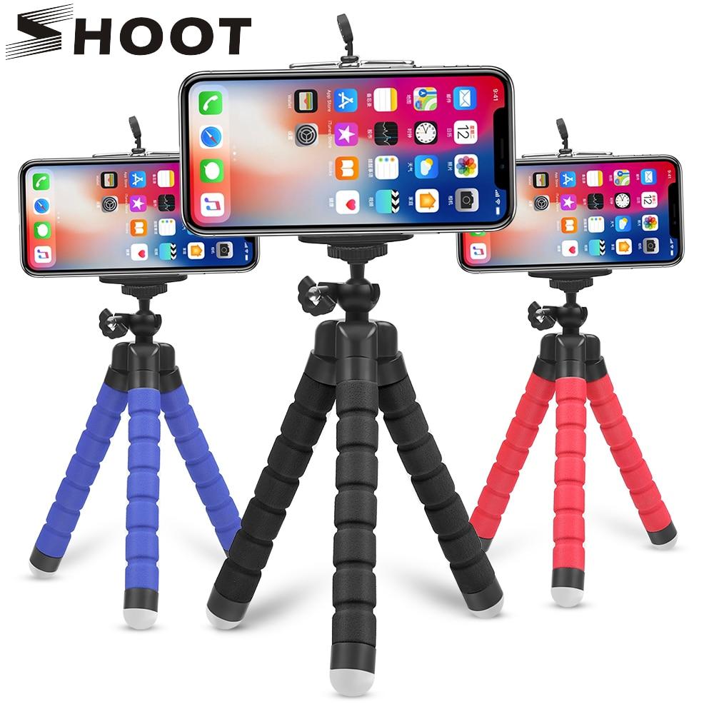 SHOOT Mini Flexible Sponge Octopus Tripod for iPhone Samsung Xiaomi Huawei Mobile Phone Smartphone Tripod for Gopro 9 8 7 Camera|tripod for|octopus tripodtripod for gopro camera - AliExpress