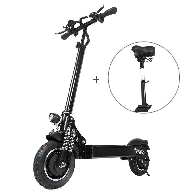 T10 2000W Dual Motor 23.4Ah 10 Inches Folding Electric Scooter with Seat 70km/h Top Speed 80km Mileage Range Max Load 120kg
