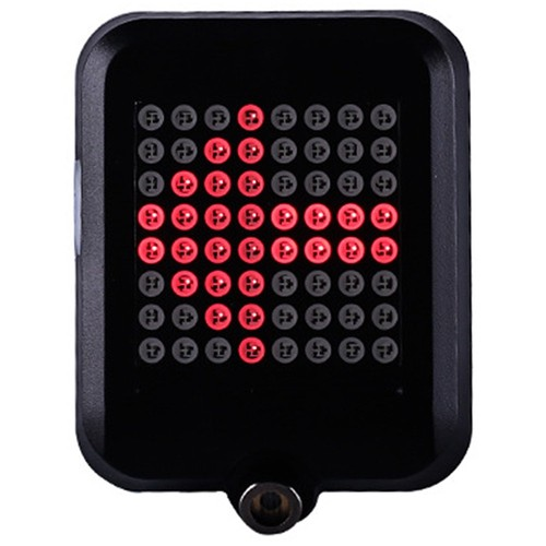 TX129 64-led Intelligent Bicycle Taillight 80 Lumens 1200mAh battery Automatic Direction Indicator Light Infrared Laser - Black