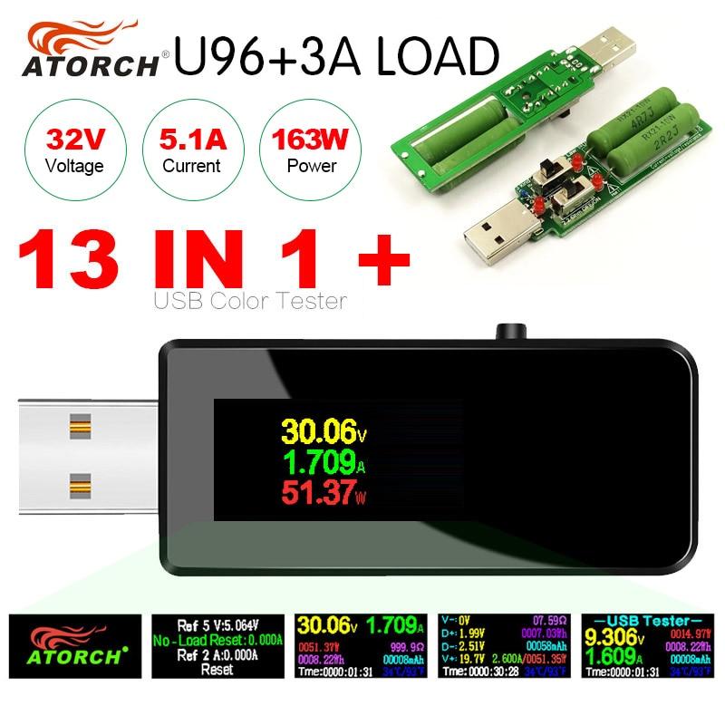 U96 13 in 1 USB tester DC Digital voltmeter amperimetro voltage current volt meter ammeter detector power bank charger indicator|Voltage Meters| - AliExpress