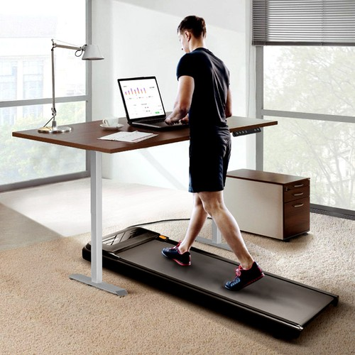 WalkingPad A1 Pro Walking Pad Smart Treadmill + ACGAM Electric Height Adjustable Desk Frame Grey