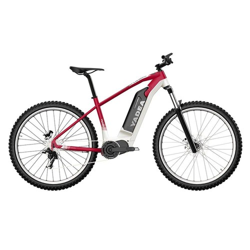 Yadea YS500 27.5 inch Touring Electric Bike 350W Fusion Mid Drive Motor Shimano BL-MT200 Brake 13Ah LG Cell Battery LCD Display 25KM/H up to 80-100Km - Red