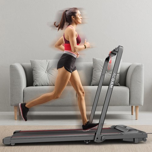 ACGAM T02P Smart Walking Machine 2 in 1 Walking and Running Folding Treadmill for Workout, Fitness Training Gym Equipment, Exercise Indoor & Outdoor with Remote Control, LED Display - EU Version