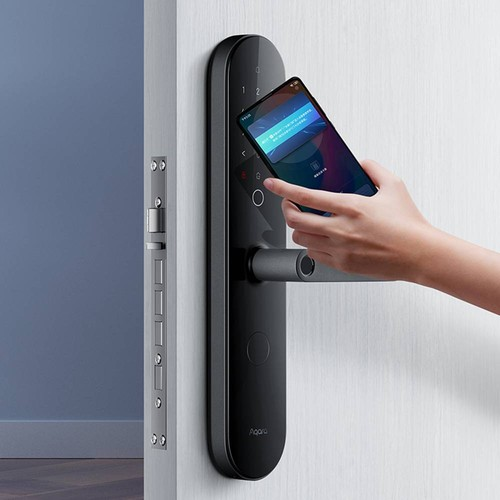Aqara N100 Smart Door Lock Fingerprint Bluetooth Password NFC Unlock Works with Mijia APP Apple HomeKit Smart Linkage with Doorbell From Xiaomi Youpin - Black