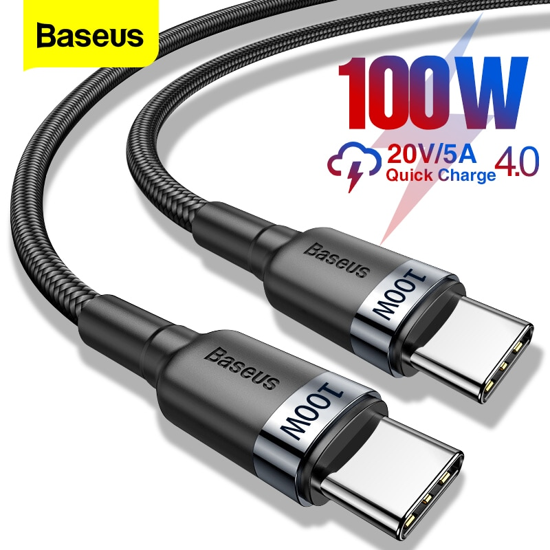 Baseus 100W USB C To USB Type C Cable USBC PD Fast Charger Cord USB C Type c Cable For Xiaomi mi 10 Pro Samsung S20 Macbook iPad|Mobile Phone Cables| - AliExpress