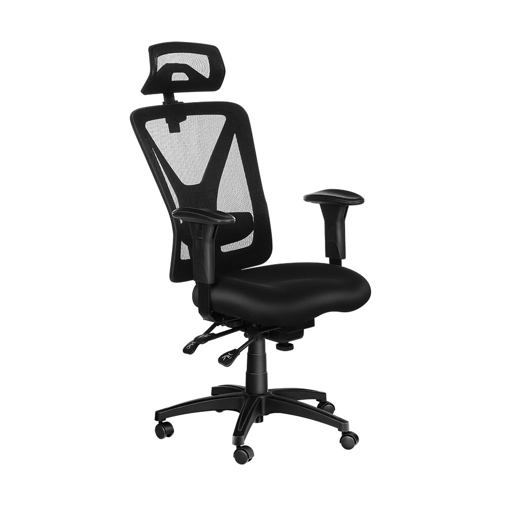 BlitzWolf® BW-HOC5 Ergonomic Design Office Chair Mesh Chair with Adjustable Armrest Headrest & Lumbar Support Multifunctional Mechanic Large Tilt & Rocking Office Home