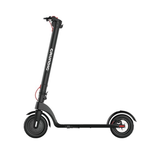 GRUNDIG X7 Electric Folding Scooter 6.4Ah Battery 350W Motor Max Speed 25km/h Aluminum Body 10 Inch Pneumatic Tire 3 Speed Modes - Black