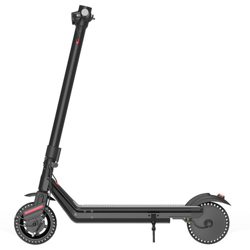 Kukudel 856P Electric Folding Scooter 10Ah Battery 350W Motor Max Speed 25km/h Rear Light Aluminum Body 8.5 Inch Solid Honeycomb Tire - Black