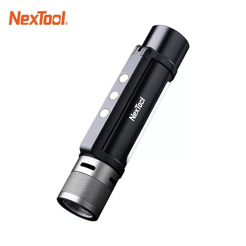 New NEXTOOL 6-in-1 1000lm Dual-light Zoomable Alarm Flashlight USB-C Rechargeable Mobile Power Bank Camping Work Light
