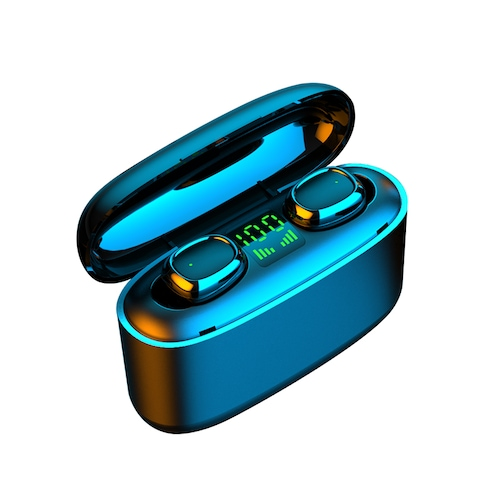 OLAF Wireless Headphones Bluetooth HD Calls Earphone Intelligent Touch Digital Display Mini In-ear Sports Running Headset Support iOS/Android Phones
