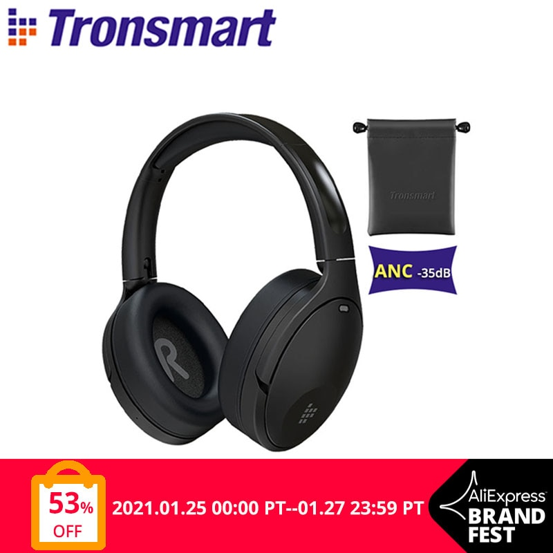 Tronsmart Apollo Q10 Bluetooth 5.0 Headphones Active Noise Cancelling Wireless Headset with100 hour Playtime,Touch/App Control|Bluetooth Earphones & Headphones| - AliExpress