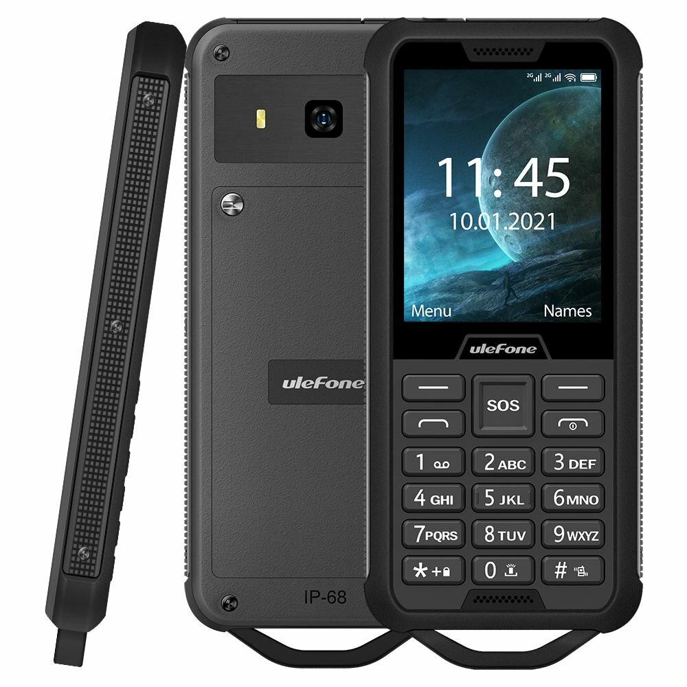 Ulefone Armor Mini 2 IP68 Waterproof 2.4 Inch 2100mAh FM Radio 0.3MP Flashlinght Dual SIM Rugged Phone