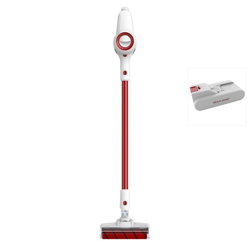 Xiaomi JIMMY JV51 Lightweight Cordless Stick Vacuum Cleaner 115AW Powerful Suction Anti-winding Hair Mite Cleaning Vacuum Cleaner EU Plug Global Version + Extra Battery Pack - Red