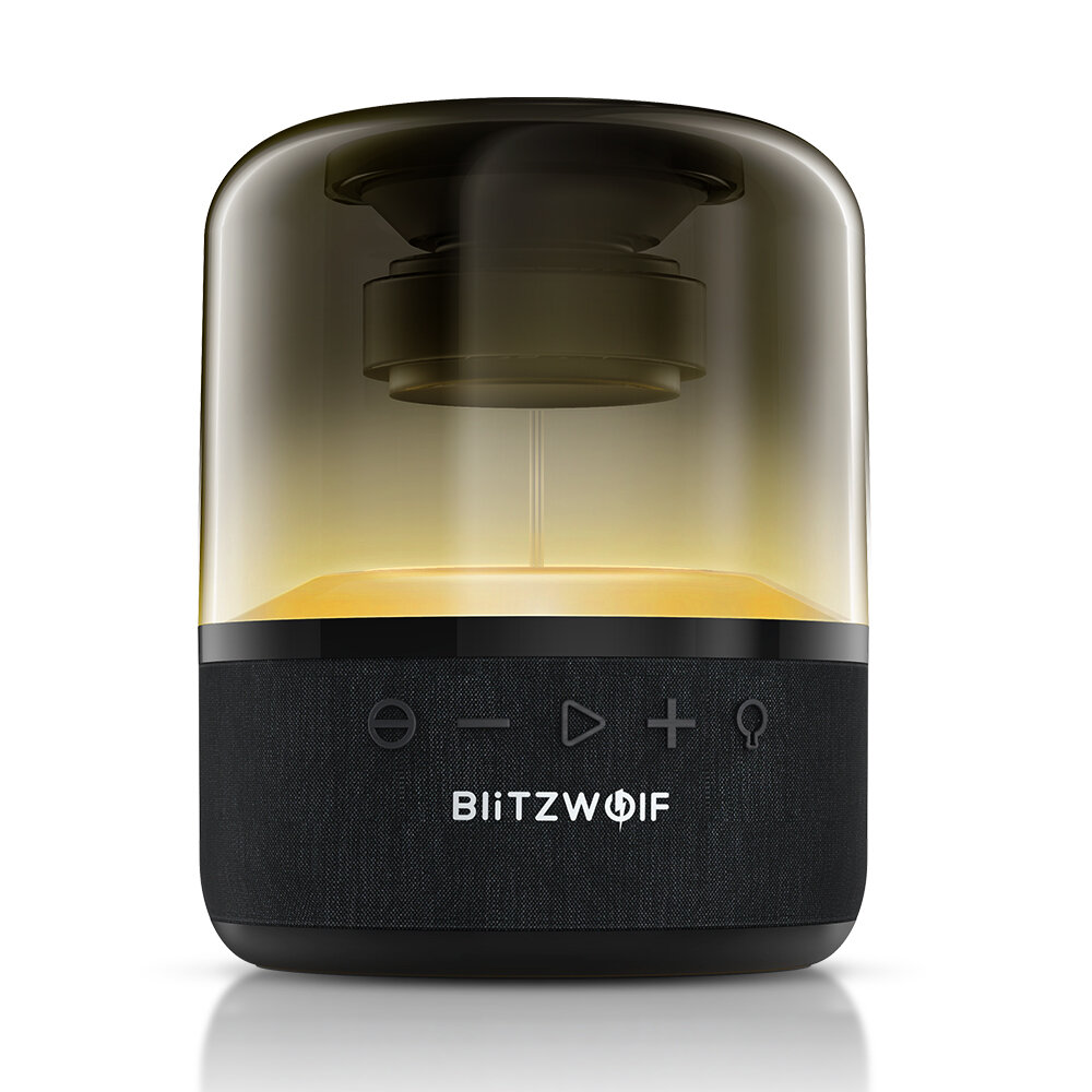 BlitzWolf® BW-AS4 20W Wireless Speaker bluetooth 5.0 with 360°Stereo Sound 2000mAh Battery TWS Function RGB Light Unique Design