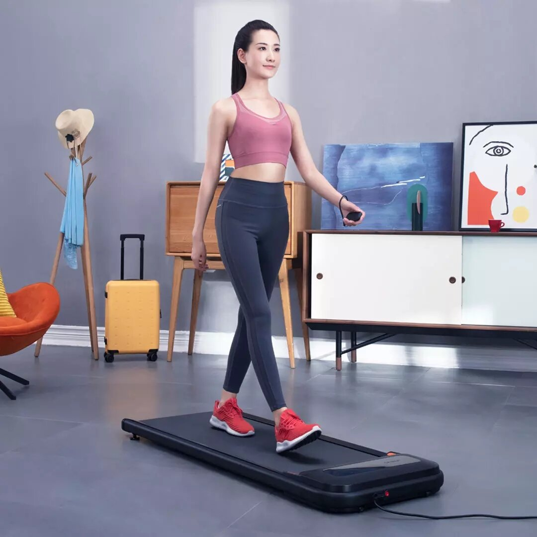 [EU Direct] Urevo U1 Fitness Walking Pad Ultra Thin Smart Treadmill Exercise Gym Equipment Remote Control LED Display Outdoor Indoor