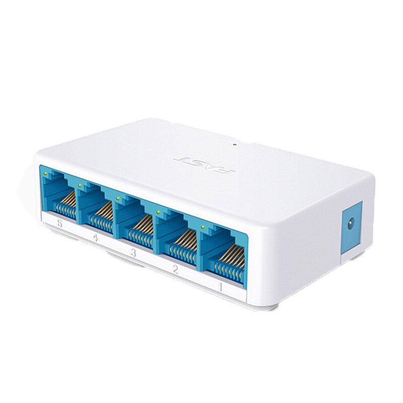FAST 5 Port Gigabit Ethernet Switch Unmanaged Switch Ethernet Splitter Traffic Optimization Desktop Mini Ethernet Hub Plug and Play