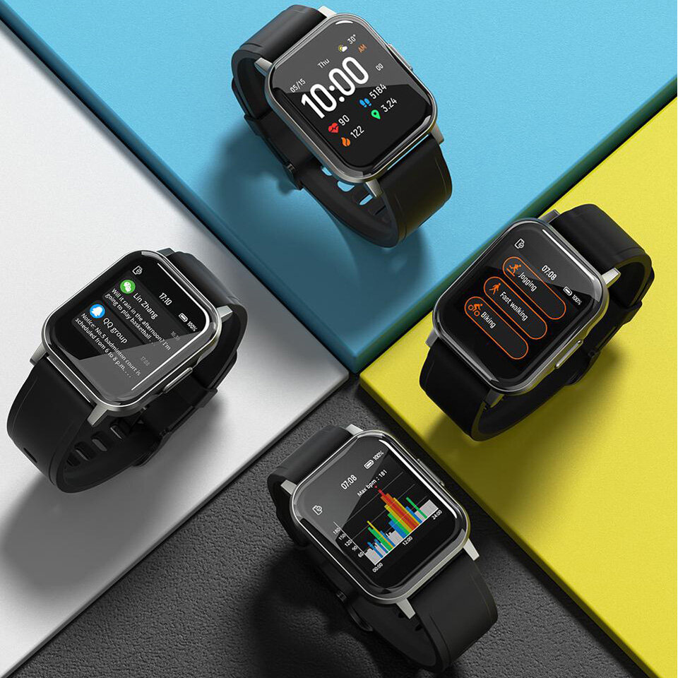 Haylou LS02 1.4inch Ture Color Full Touch Large Screen 320*320ppi Resolution 30Days Long Standby 12 Sports Modes bluetooth 5.0 Smart Watch Global Version