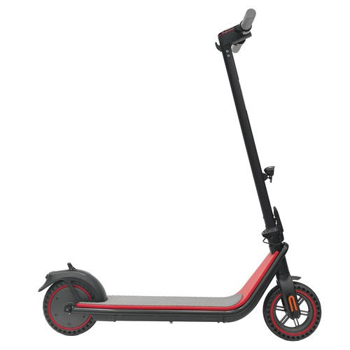 KUKUDEL 858 8.5 Inch Inflation-free Tire Electric Folding Scooter 7.5Ah Battery 250W Motor Max Speed 25km/h Non-zero start - Black