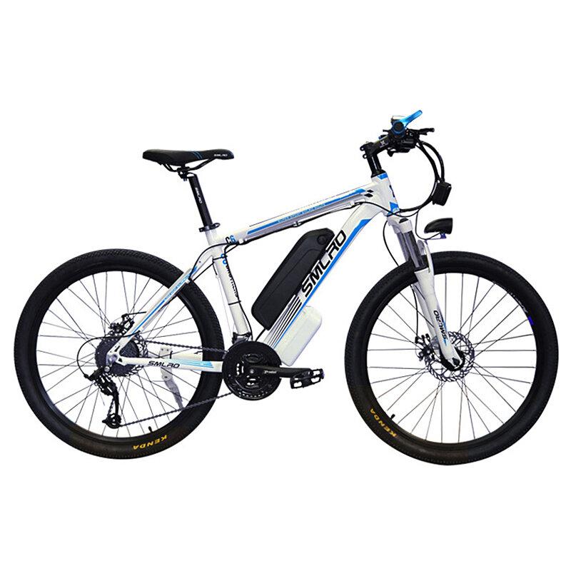SMLRO C6 48V 13Ah 500W 26in Electric Moped Bicycle Electric Bike 35km/h Max Speed 80km Max Range Mountain Bicycle E Bike