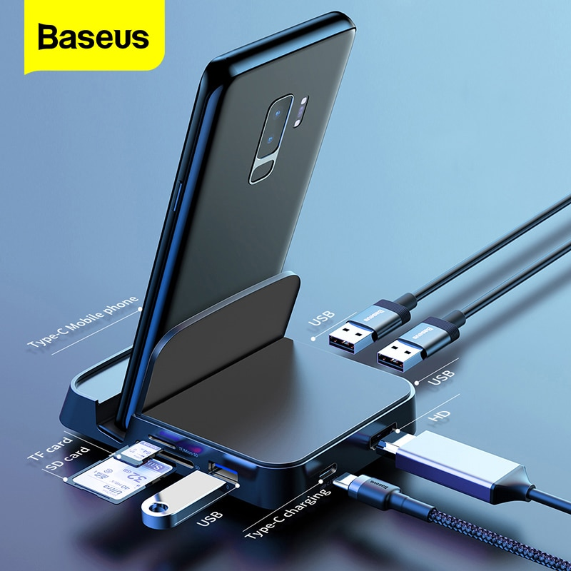 Baseus Type C HUB Docking Station For Samsung S20 S10 Dex Pad Station USB C To HDMI compatible Dock Power Adapter For Huawei P30|Phone Docking Station| - AliExpress