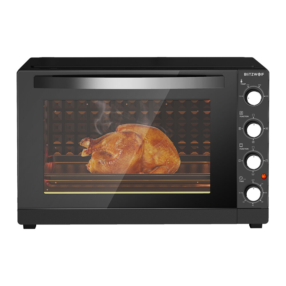 BlitzWolf® BW-EO1 Air Fryer Toaster Oven 65L 2200W Dual Heating Electric Oven Support Hot Air Circulation with Stainless Steel Interior