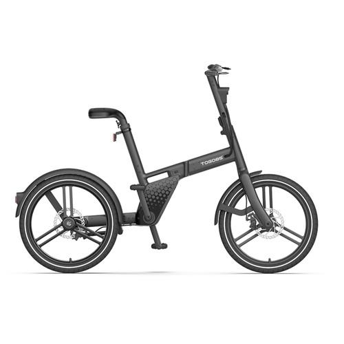 TOGO85 Shaft drive Electric Bike 20 inch Kenda Tire 36V 200W motor 25km/h 6.2Ah Battery up to 35km Range Aluminum Alloy Frame Disk Brake IP65 Black