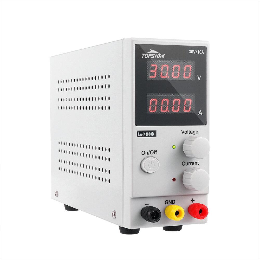 TOPSHAK K3010D 4 Digits LED Display 110V/220V 30V 10A Adjustable DC Power Supply Switching Regulated Power Supply