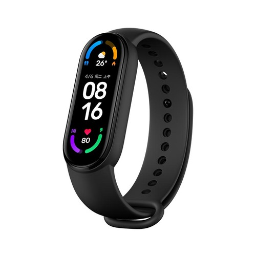 Xiaomi Mi Band 6 Smart Bracelet Heart Rate Oximetry Monitor 1.56 inch Screen Bluetooth 5.0 50 Meters Water Resistance 30 Sports Modes Standard Version - Black