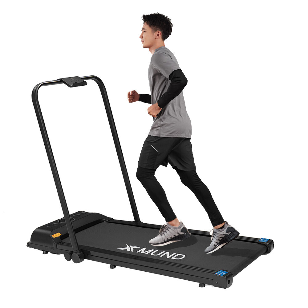 XMUND XD-T2 Treadmill 12km/h Running Mode Adjustable LCD Display Bluetooth Non-slip Walking Pad Remote Control Gym Home Fitness Equipment